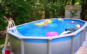 [Modern Backyard] Backyard Landscaping Ideas With Above Ground Pool [Small Backyard Ideas]