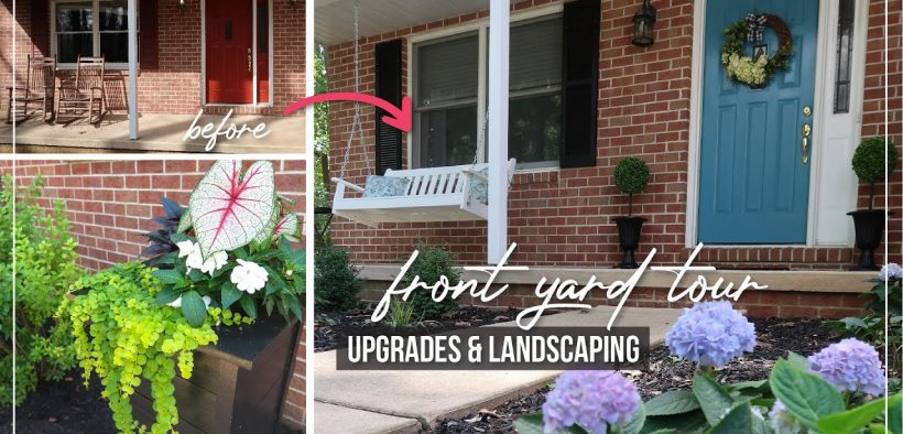DIY Front Porch Makeover   Front Yard Landscaping & Garden Tour   Porch Upgrade & Curb Appeal Ideas